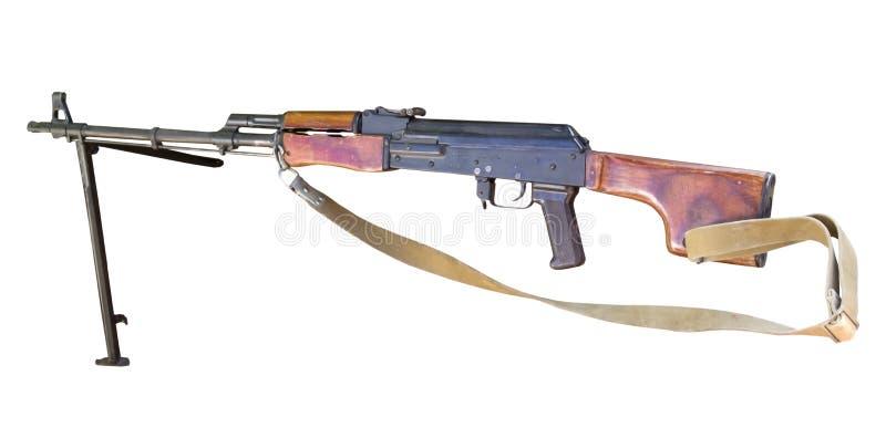 RPK-Machinegeweerkalashnikov op wit royalty-vrije stock foto