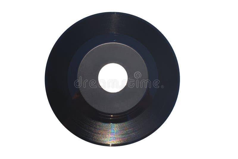 45 rpm определяют показатель с большим центральным отверстием и серым ярлыком стоковые фото