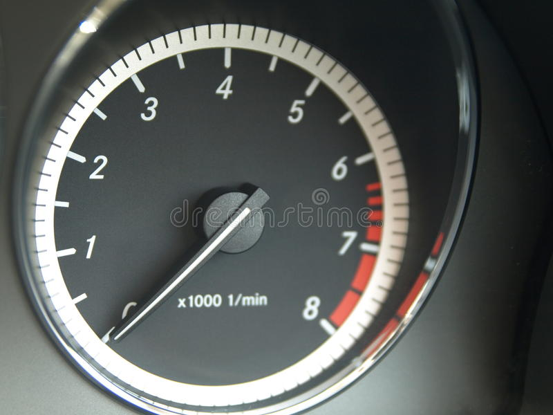 RPM Meter royalty free stock photography