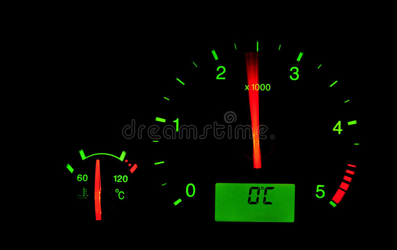 Download Rpm meter in a car stock photo. Image of acceleration - 7216466