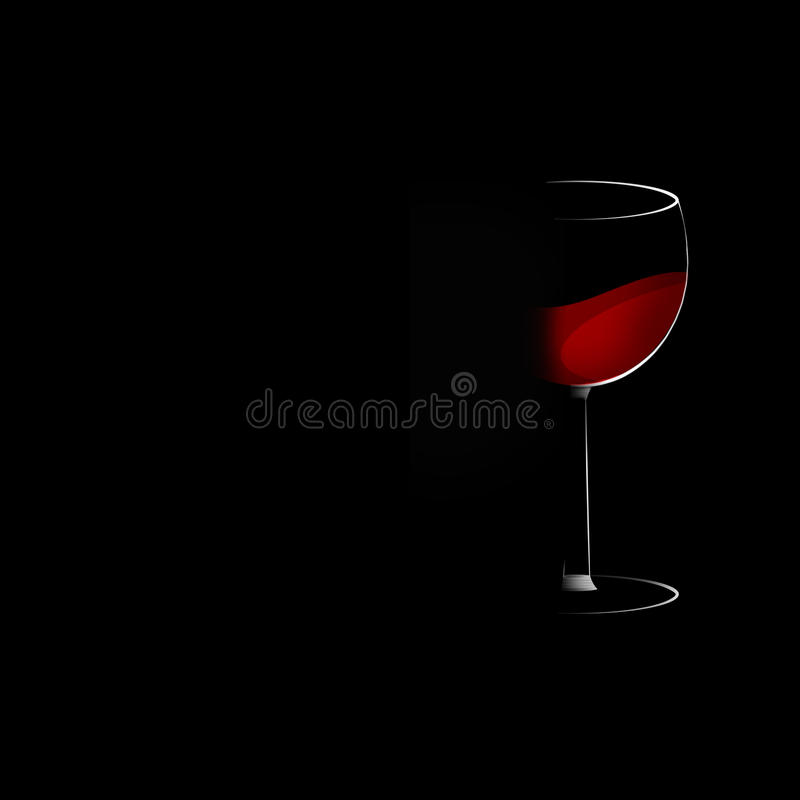 Download Rred wine glass stock illustration. Image of style, crystal - 33492355