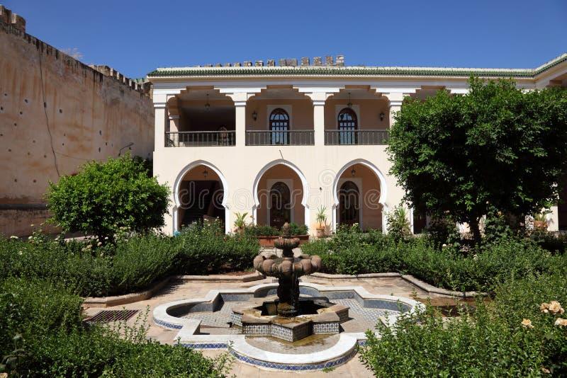 RRiad在梅克内斯,摩洛哥 库存图片