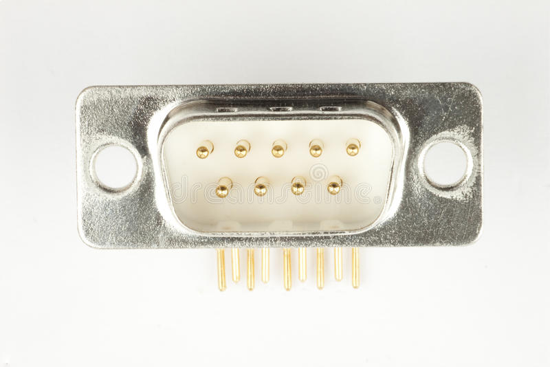 RS 232 Serial Port Connector Royalty Free Stock Photos
