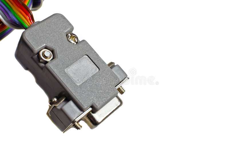 RS232 connector royalty free stock images