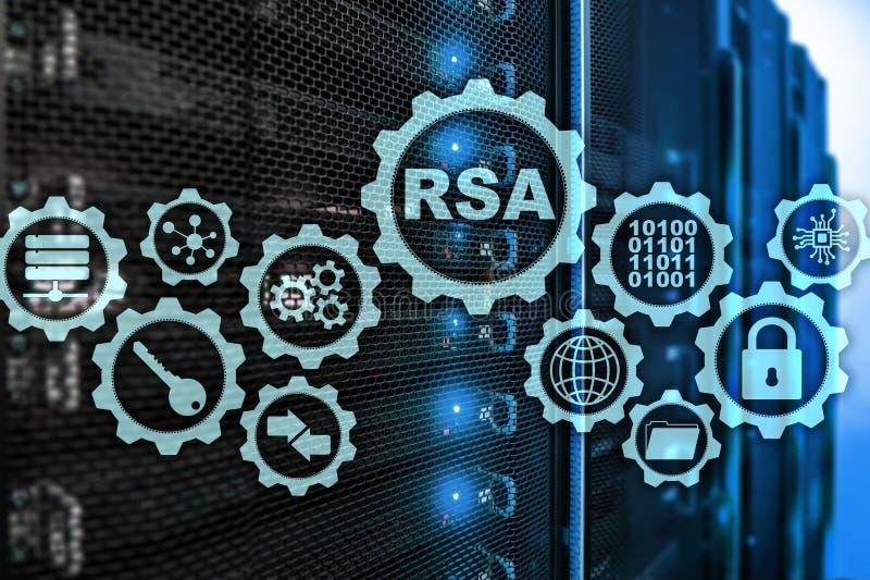 RSA Rivest沙米尔阿德曼密码系统 密码学和网络安全 皇族释放例证