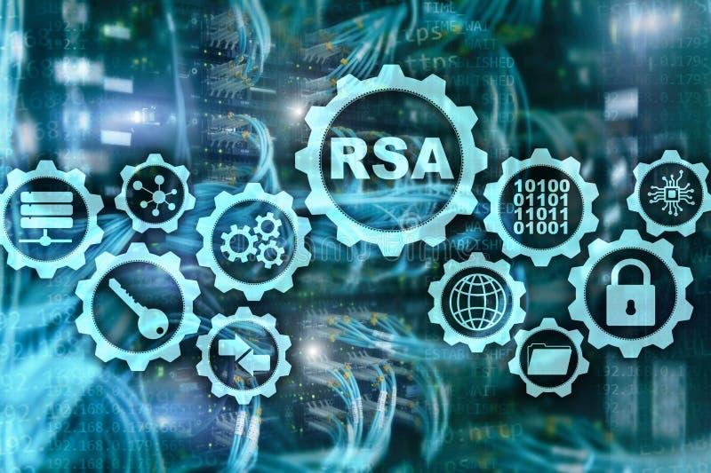 RSA Rivest Shamir Adleman cryptosystem Kryptografi- och nätverkssäkerhet royaltyfri illustrationer