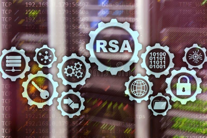 RSA Rivest Shamir Adleman cryptosystem Kryptografi- och n?tverkss?kerhet royaltyfri illustrationer