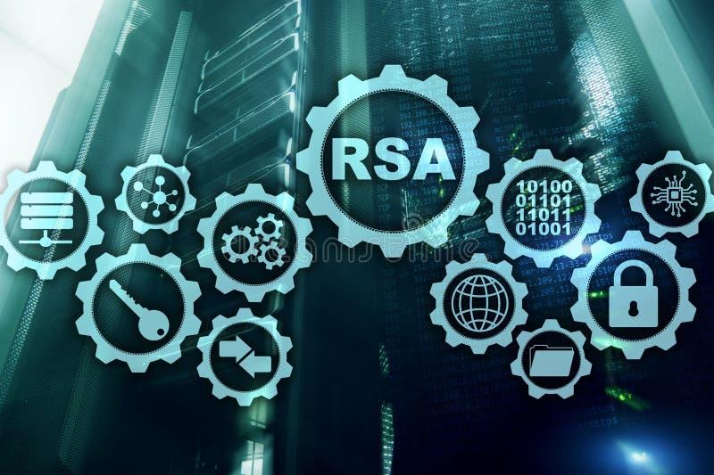 RSA Syst?me cryptographique de Rivest Shamir Adleman S?curit? de cryptographie et de r?seau photo stock
