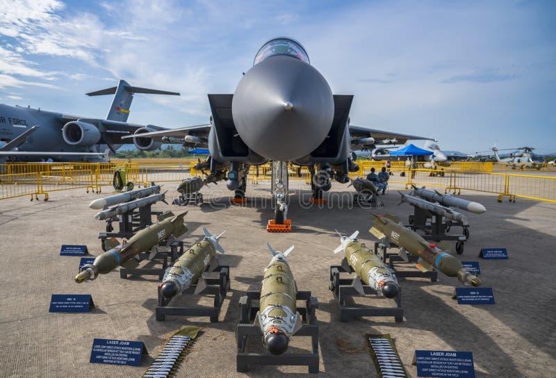 RSAF Boeing F-15SG na exposição em LIMA Expo fotos de stock royalty free