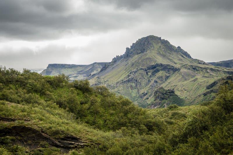 Rsmörk del ³ di Þà in Islanda fotografie stock