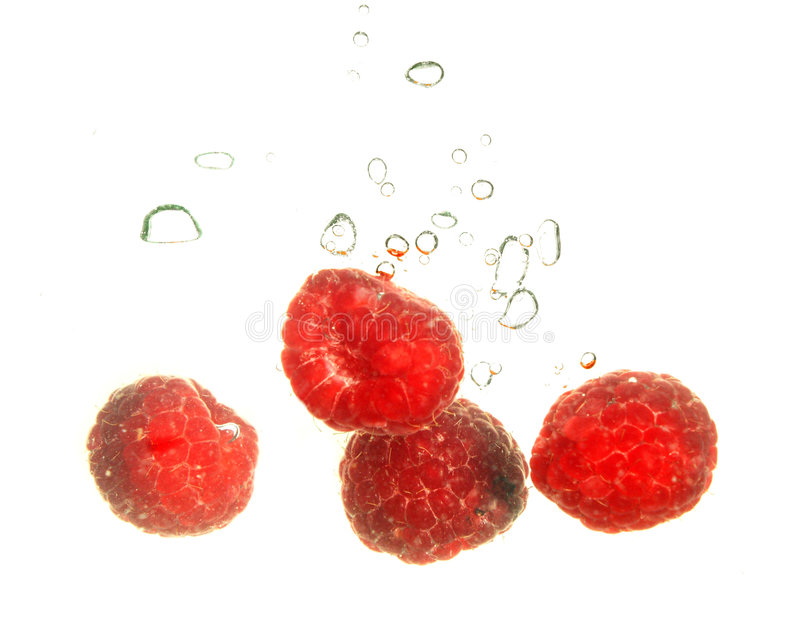 Rspberry Spritzen stockfotografie