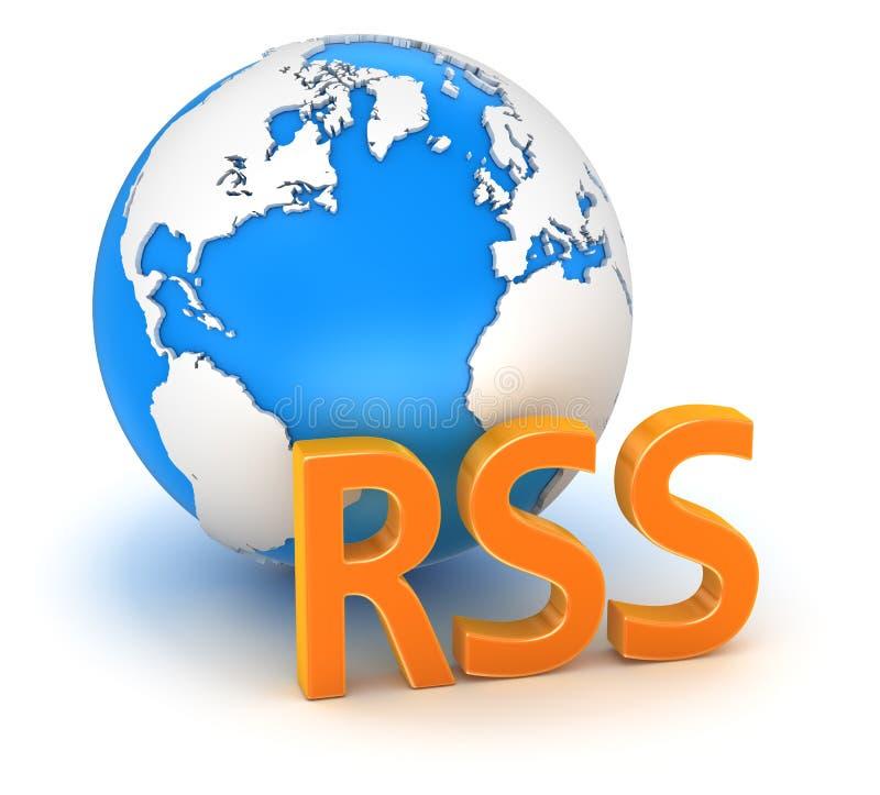 Rss с глобусом бесплатная иллюстрация