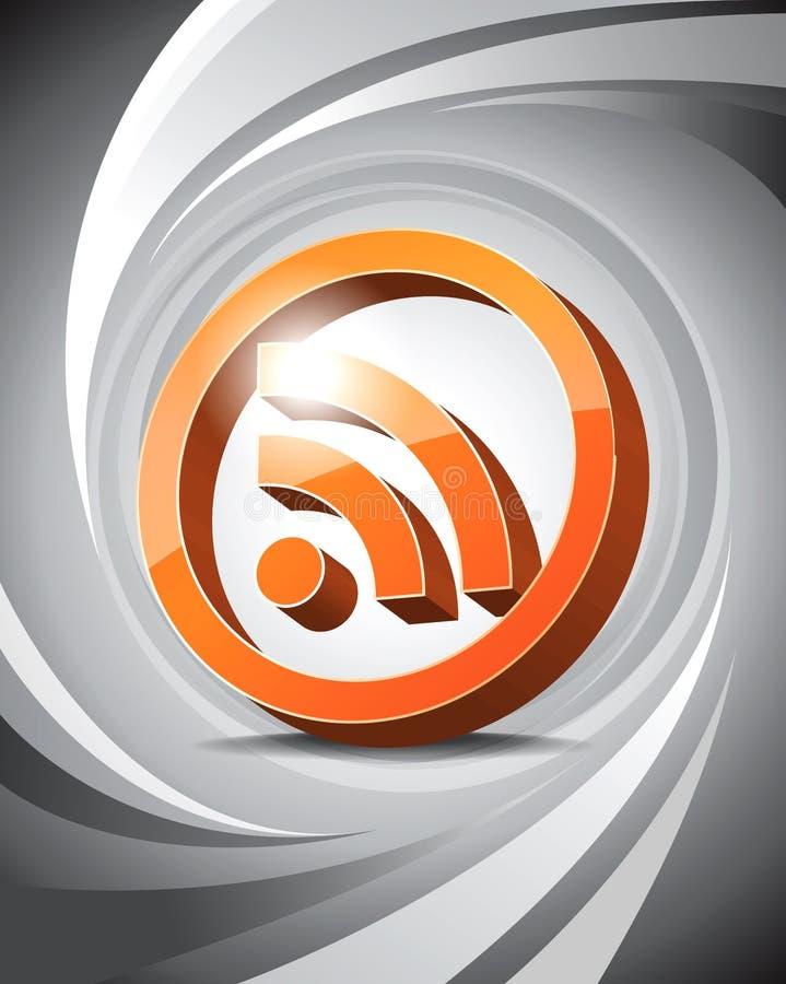 rss för symbol 3d stock illustrationer