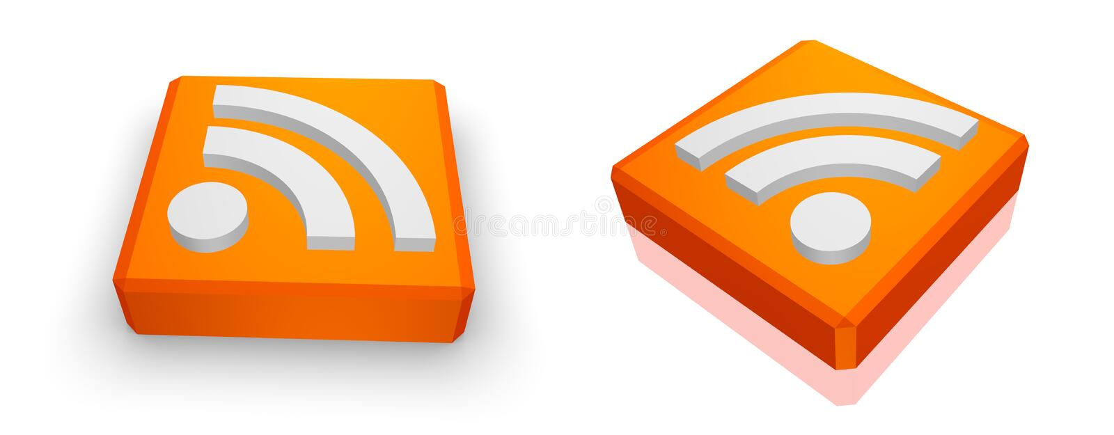 Download RSS feed icon stock illustration. Illustration of symbol - 25383437
