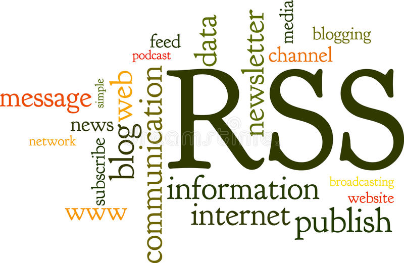 Download Rss Feed Word Cloud stock vector. Image of blog, information - 18184538