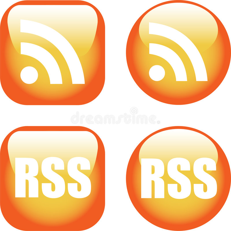 Download RSS Icons editorial stock image. Image of clip, communication - 6681494