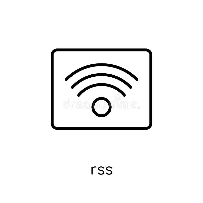 Rss-Ikone von der Sammlung lizenzfreie abbildung