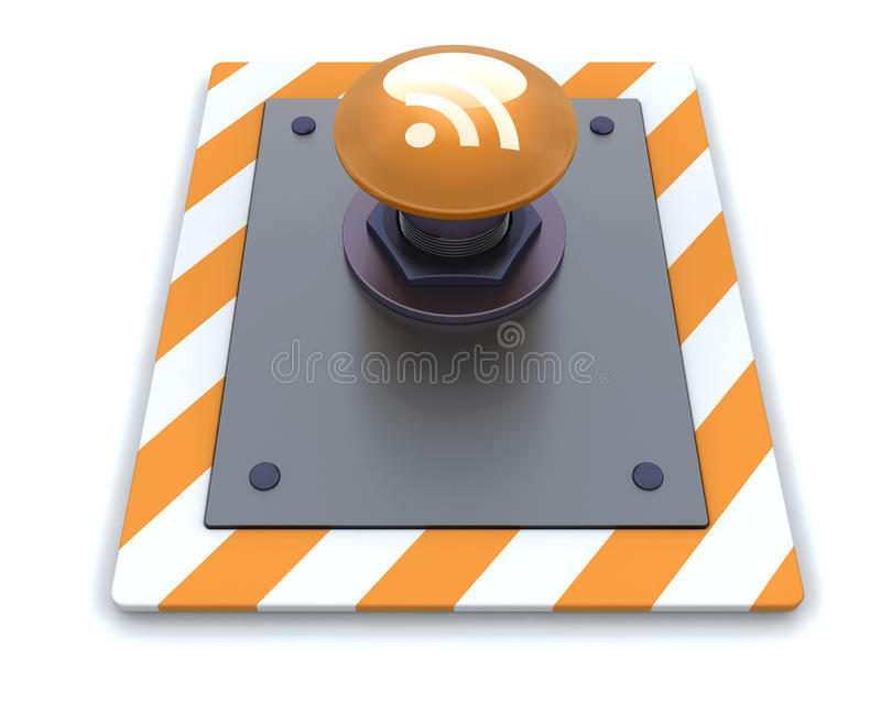 RSS push button royalty free stock images
