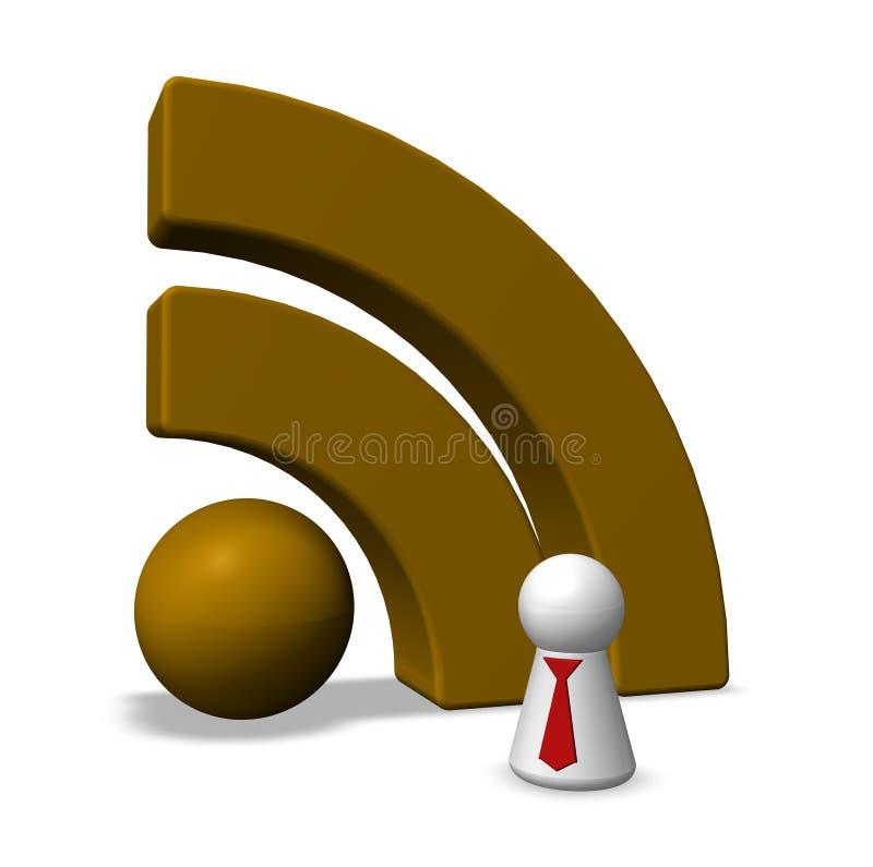 Download Rss symbol stock illustration. Illustration of blog, media - 27204808