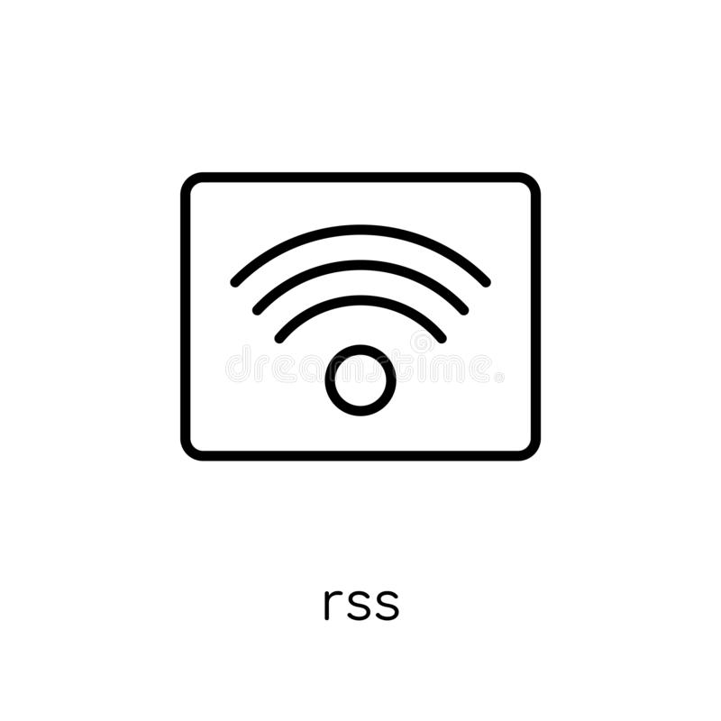 Rss symbol från samling royaltyfri illustrationer