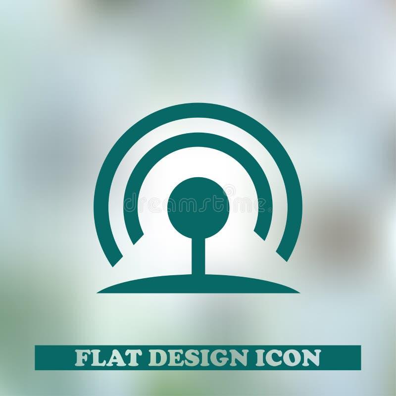RSS symbolu mieszkania stylu ikona również zwrócić corel ilustracji wektora obraz royalty free