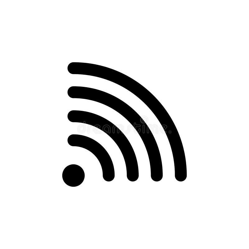 Rss, wi het pictogram van FI De tekens en de symbolen kunnen voor Web, embleem, mobiele toepassing, UI, UX worden gebruikt vector illustratie