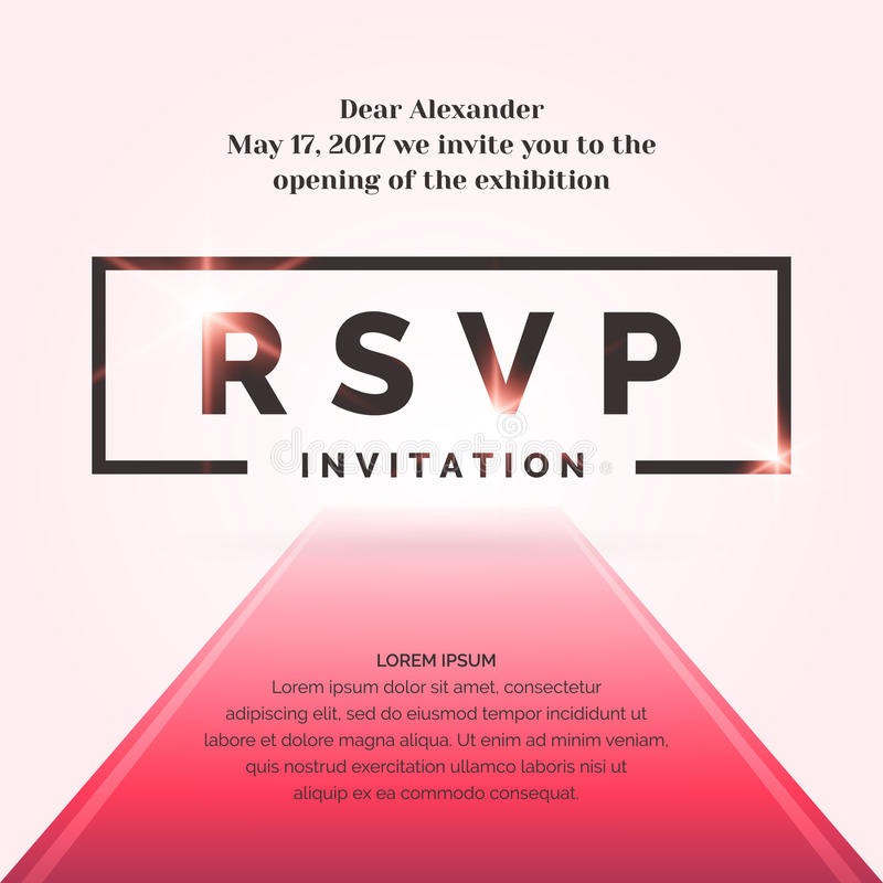 RSVP. Invitation Template For The Event. Stock Vector - Illustration ...