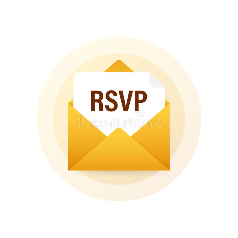 Free RSVP Mail Icon. Please Respond To Mail Linear Sign. Vector Stock Illustration. Stock Images - 168398384