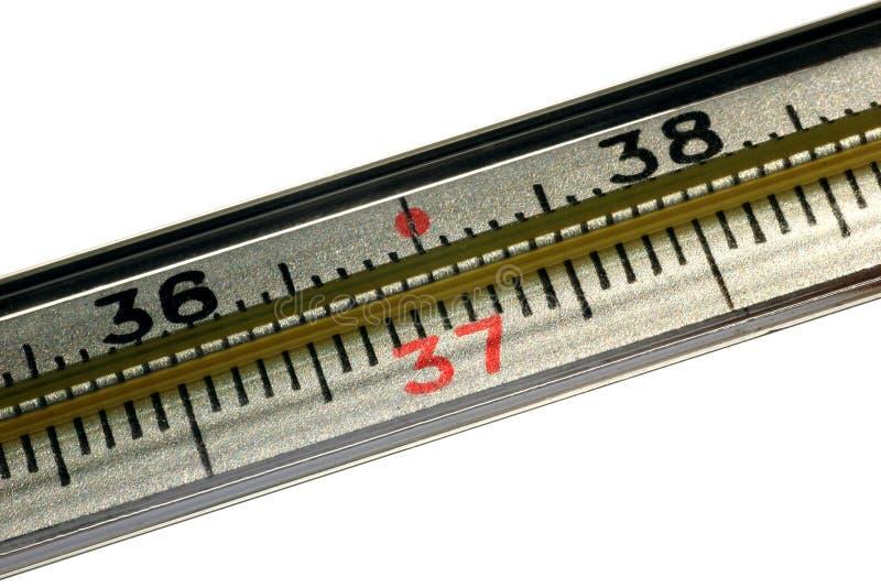 rtęć medyczny termometr Biel odizolowywający obrazy stock
