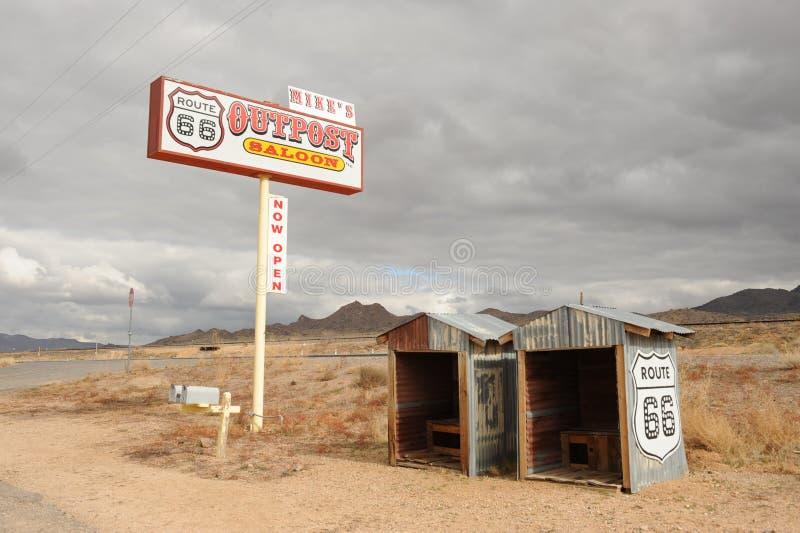 Rt 66前哨基地 图库摄影