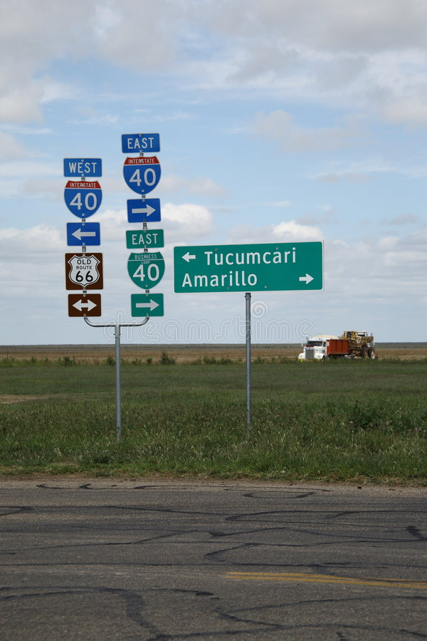 Rt. 66 signage in Texas royalty free stock images