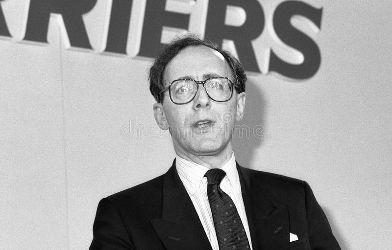 Rt. Hon. Malcolm Rifkind. Malcolm Rifkind, Secretary of State for Transport and Conservative party Member of Parliament for Edinburgh Pentlands, speaks at a royalty free stock images