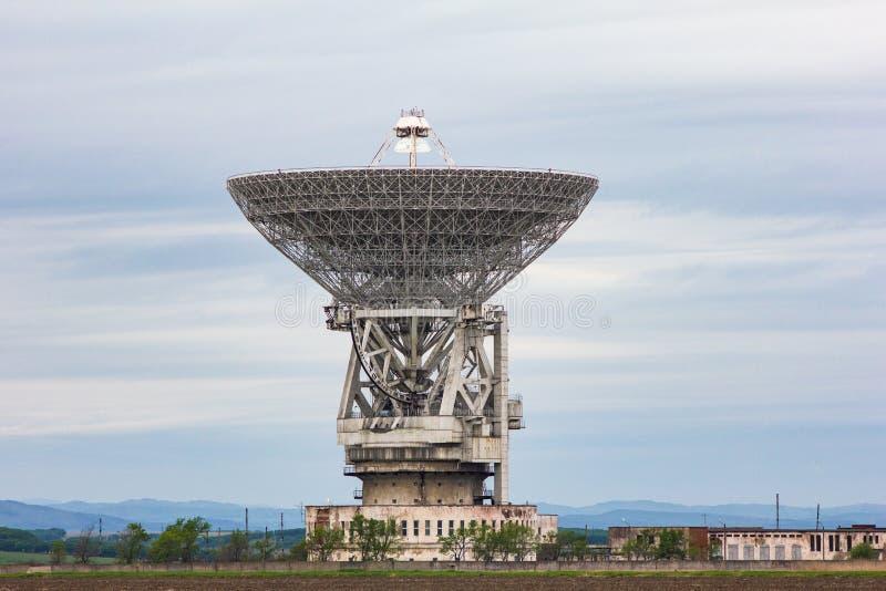 RT-70 radio telescope. Radio telescope main reflector stock images