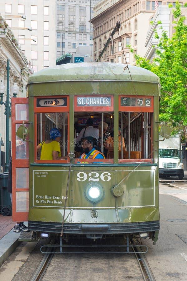RTA tramwaju St Charles linia w Nowy Orlean zdjęcia royalty free