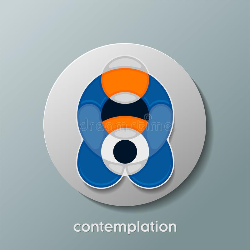 Rtendy contemplation circle icon stock illustration