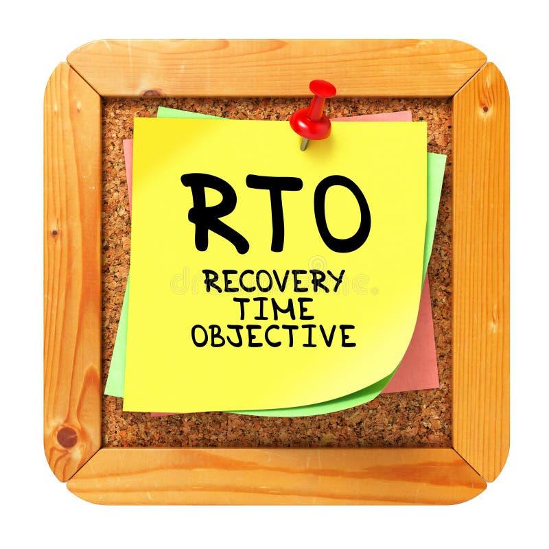 RTO. Etiqueta amarela no boletim. imagem de stock