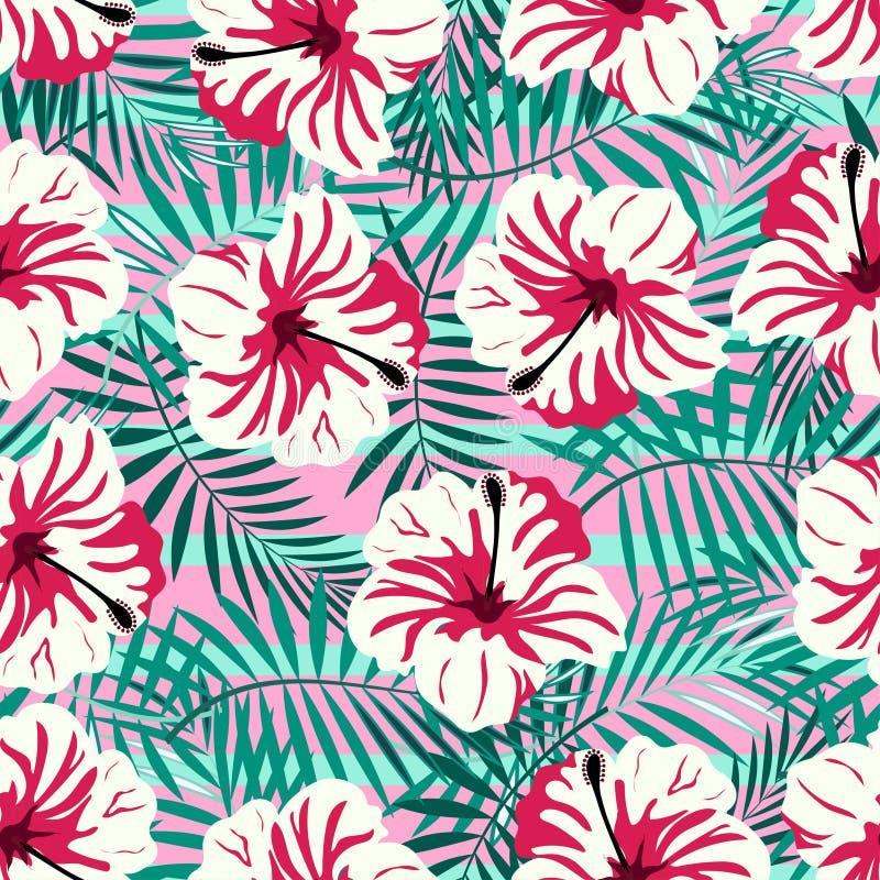 Rtopicalpatroon op roze stock illustratie