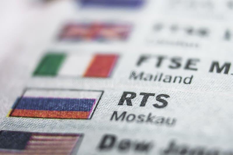 RTS-Makrokonzept stockbild