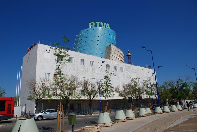 RTVA building, Seville stock images
