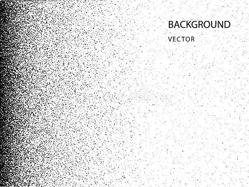 Ruído abstrato do vetor que desaparece Folha de prova da textura do Grunge com partículas finas em um fundo isolado ilustração royalty free
