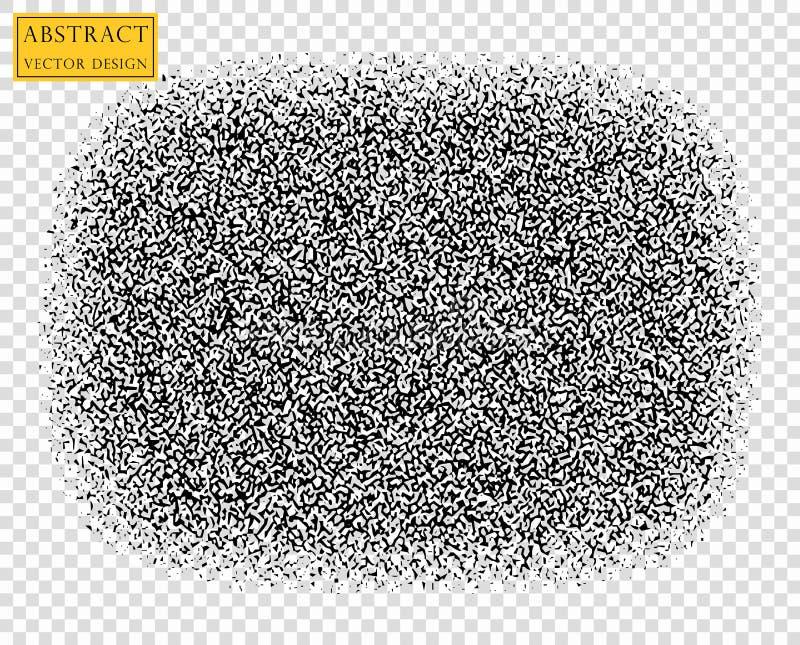 Ruído abstrato do vetor que desaparece Folha de prova da textura do Grunge com partículas finas em um fundo transparente isolado ilustração stock