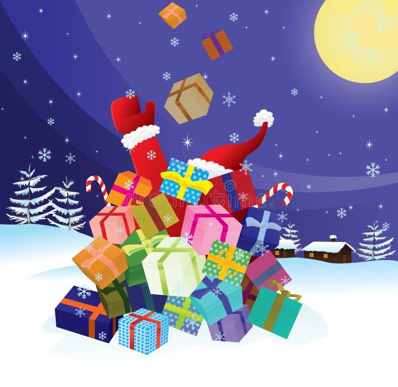 Ruído elétrico de Papai Noel por Natal ilustração royalty free