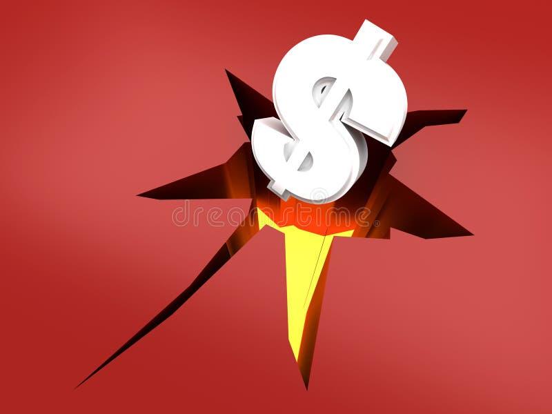 Ruído elétrico do dólar ilustração do vetor