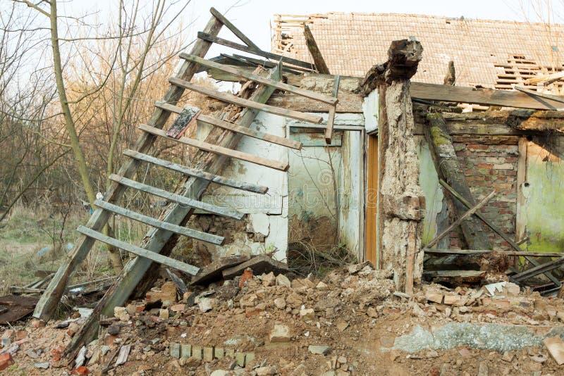A ruína foto de stock