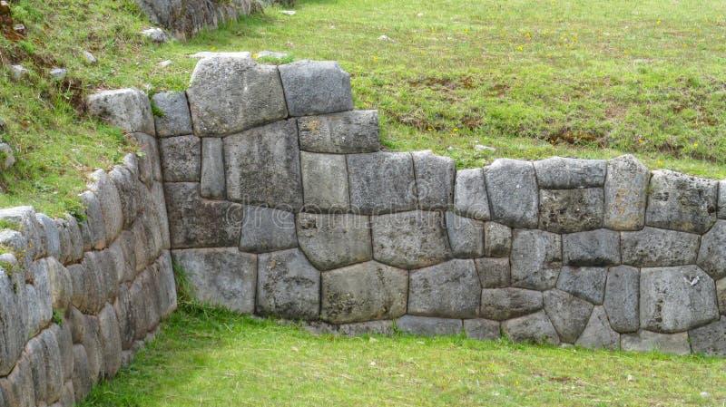 Ruína da cidade do inca de Sacsayhuaman imagem de stock royalty free