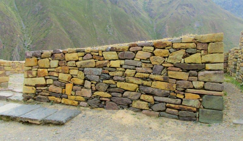 Ruína da cidade do inca de Sacsayhuaman imagens de stock royalty free