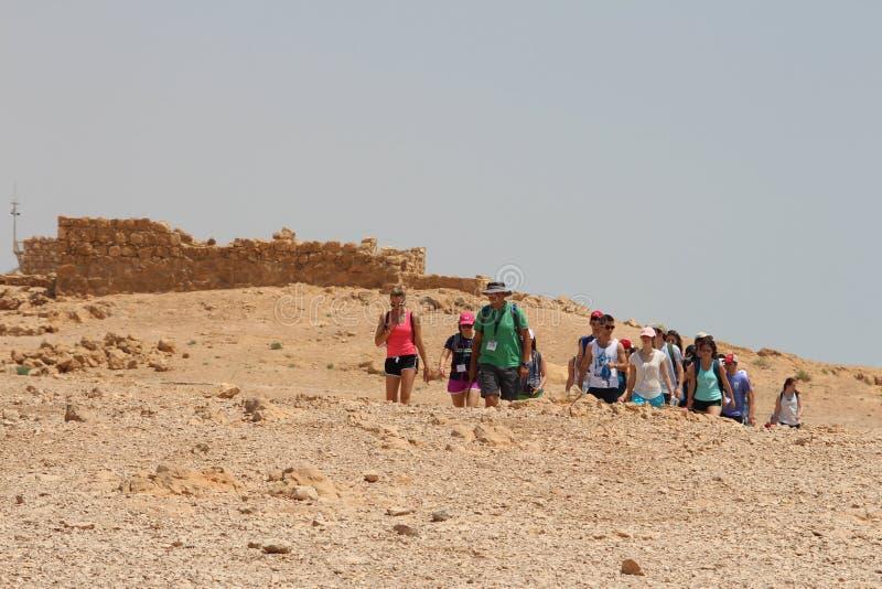 Ruína da fortaleza de Masada - Israel fotos de stock