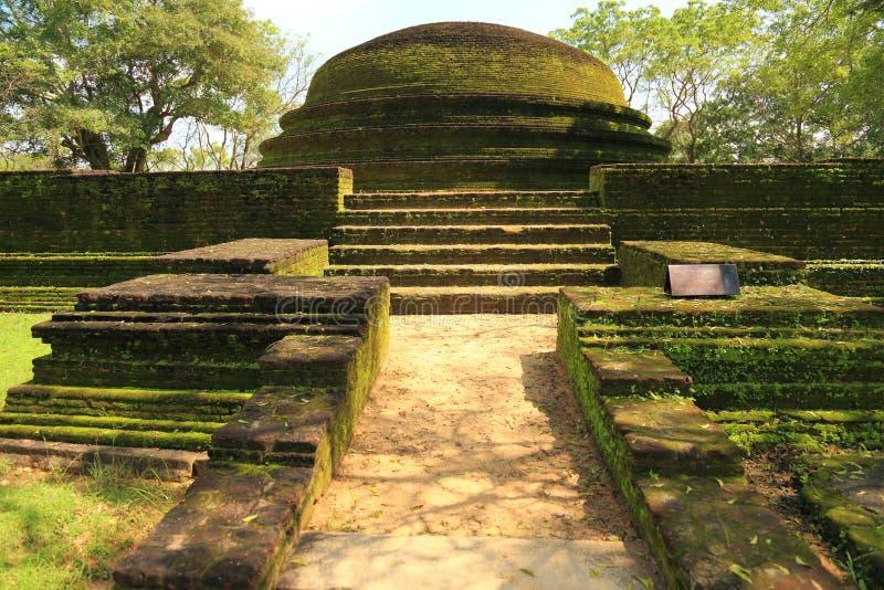 Ruína de Polonnaruwa imagem de stock royalty free