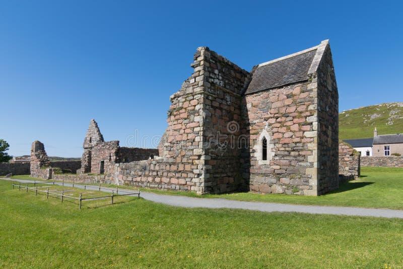 Ruína de um convento em Iona, Escócia foto de stock royalty free