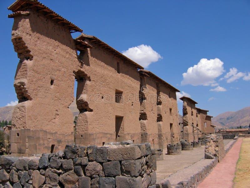 Ruína do Inca em Peru fotos de stock royalty free
